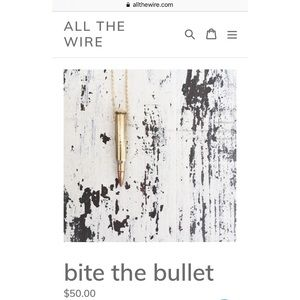 All the wire bullet necklace.